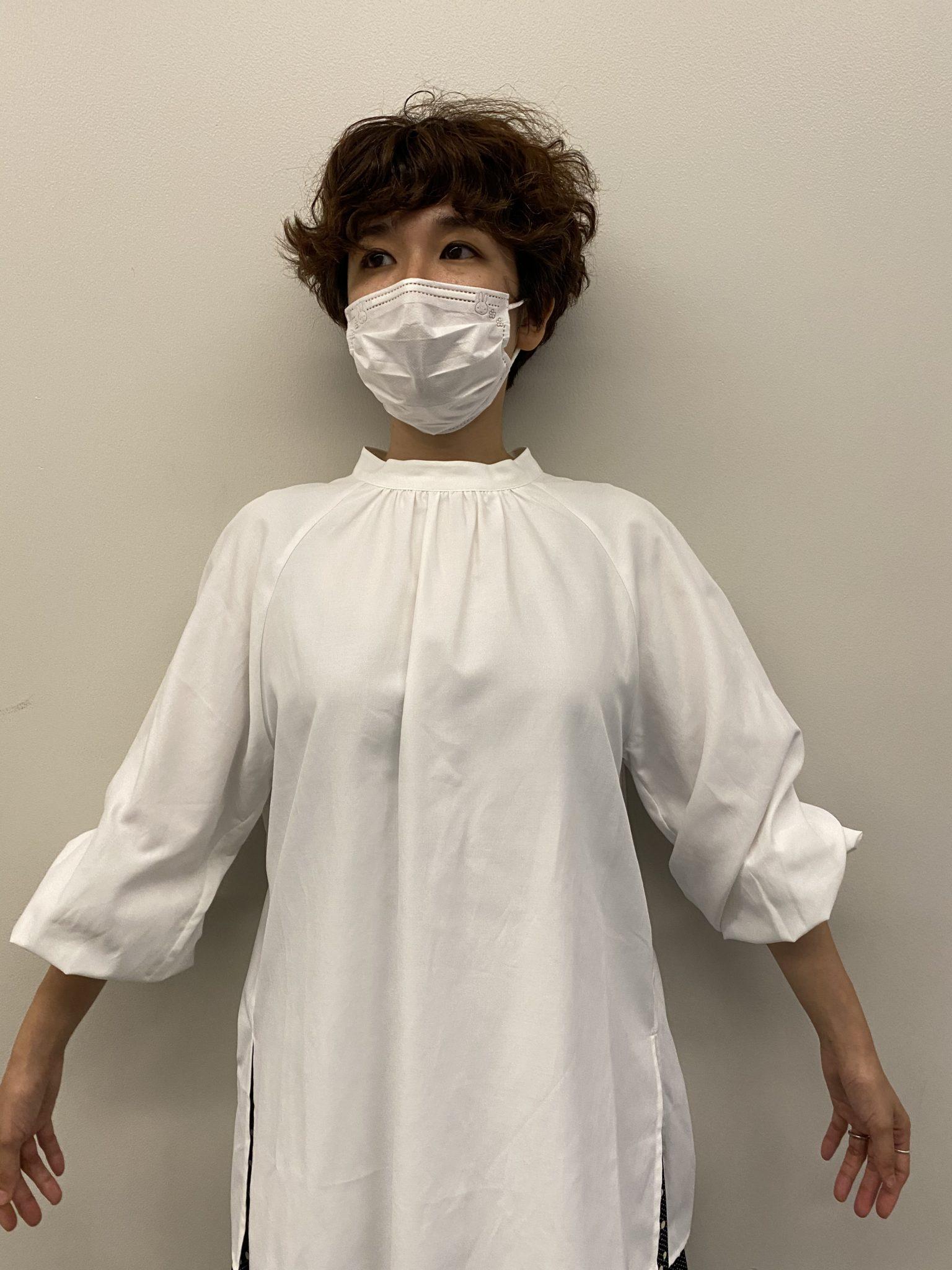 フェリシモ汚れがつきにくい、UVカットの白ドレスシャツ4