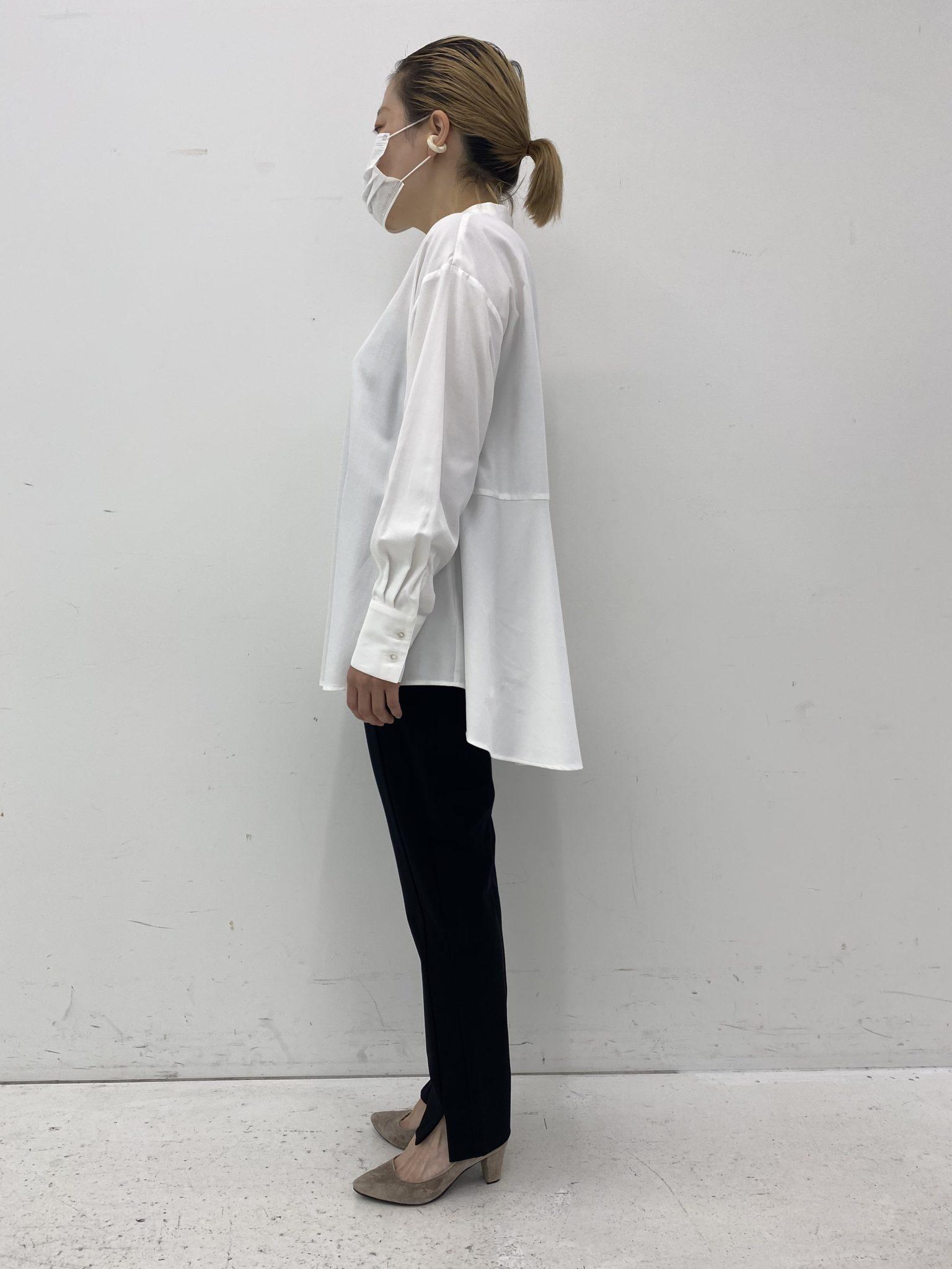 フェリシモ汚れがつきにくい、UVカットの白ドレスシャツ2