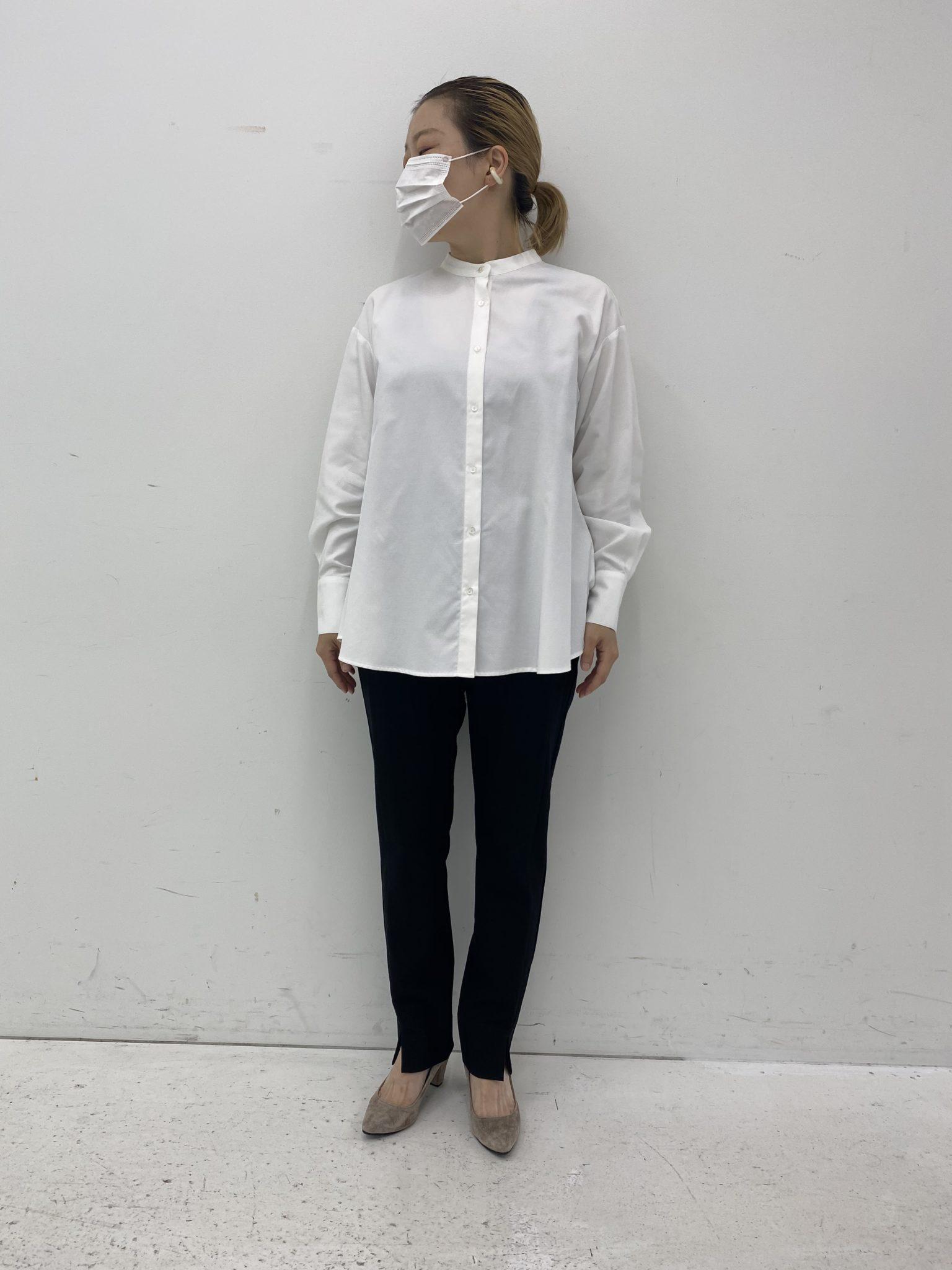 フェリシモ汚れがつきにくい、UVカットの白ドレスシャツ1
