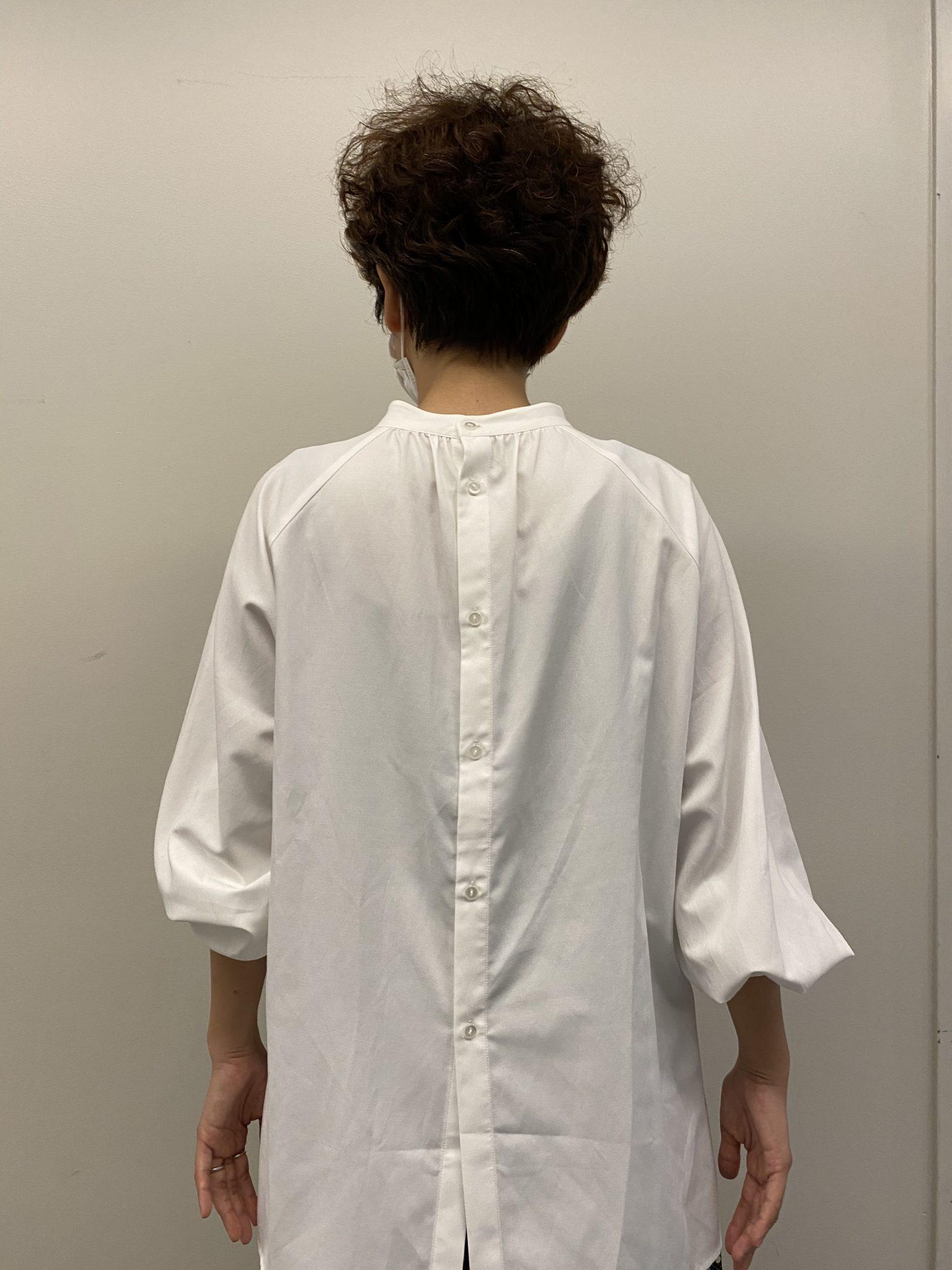フェリシモ汚れがつきにくい、UVカットの白ドレスシャツ5