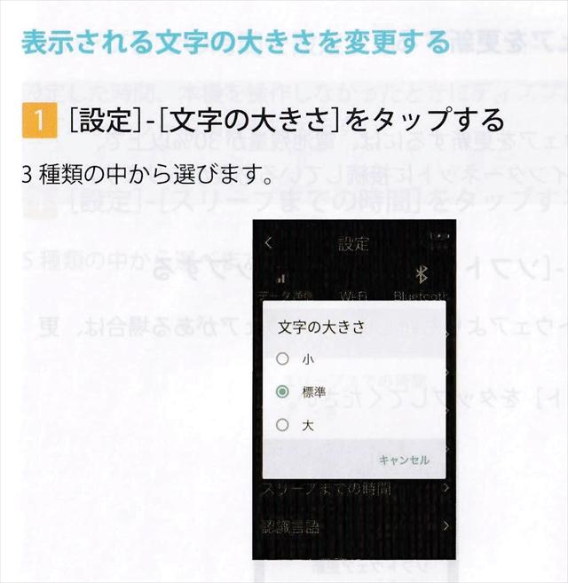 ソースネクスト『ポケトークmimi』使い方文字の大きさ変更