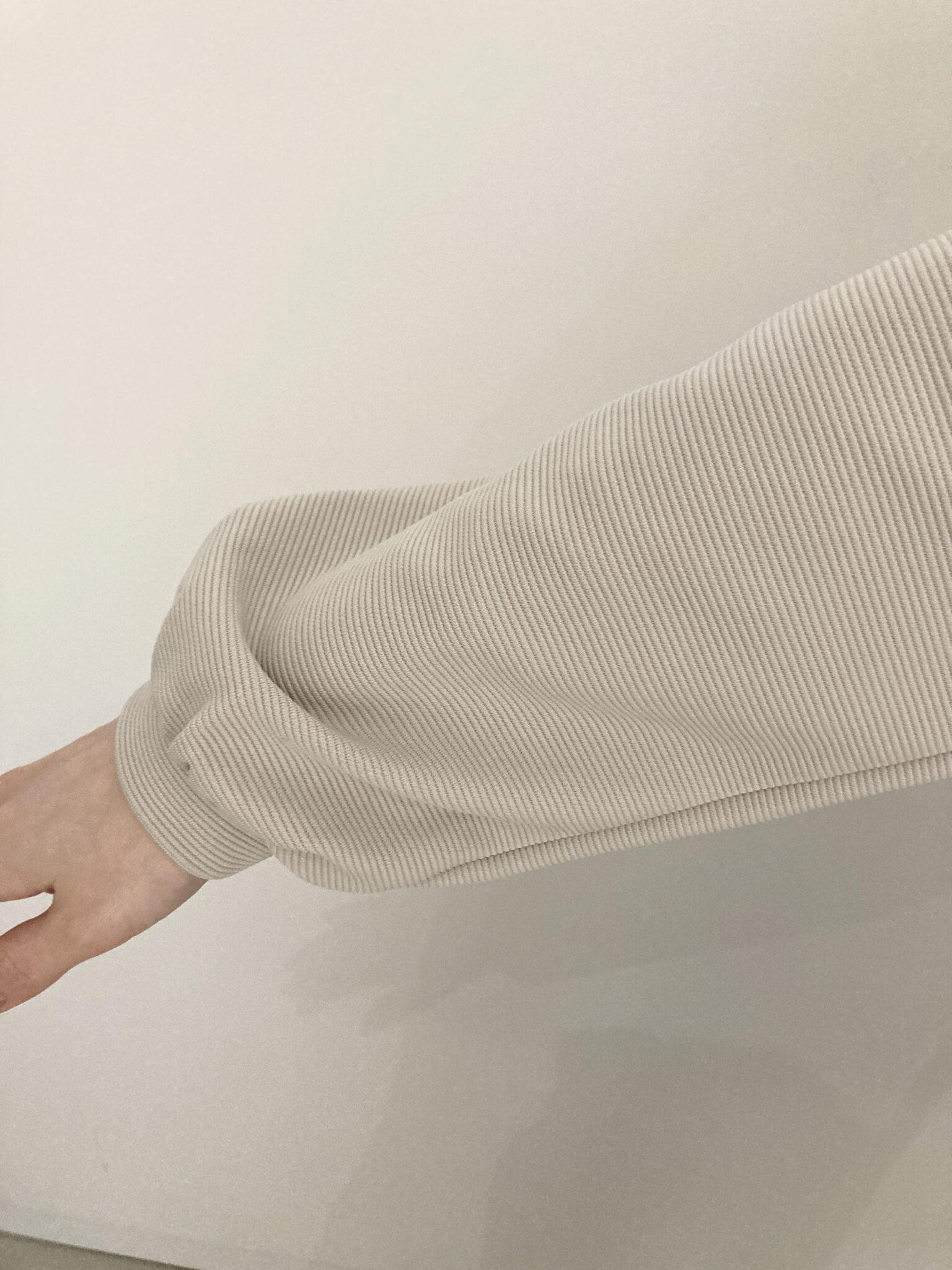 フェリシモIDIT一枚で好印象コーデが完成シックに華やぐドッキングワンピカットソーリップル素材